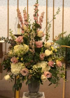 Country Garden Sympathy Arrangement